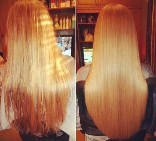 цветное ламинирование волос с горячими средствами